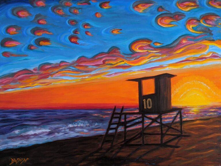Lifeguard Tower 10 Newport Beach California